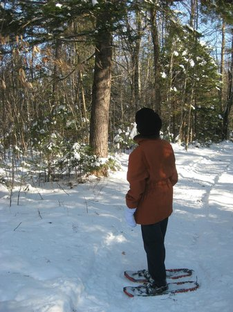 The Old Saco Inn:                   About to go snowshoeing