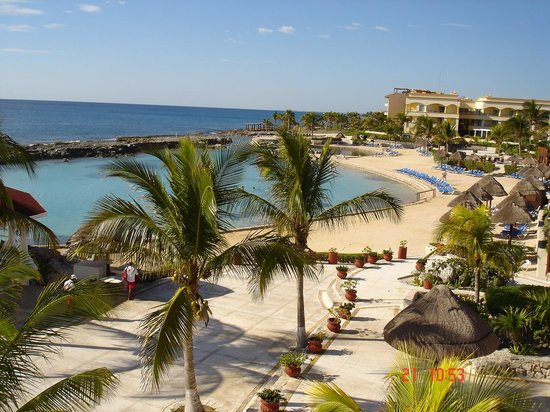 Heaven at the Hard Rock Hotel Riviera Maya: Vue de la plage artificielle