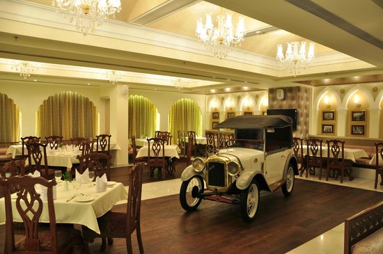 21 Gun Salute :                   The vintage car in the middle of the main dining area