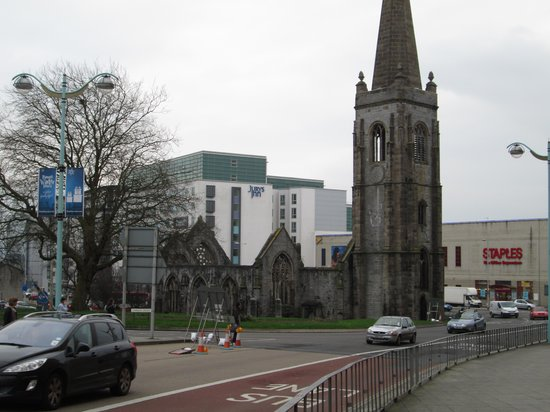 Jurys Inn Plymouth:                   Jurys inn  with bombed out church.