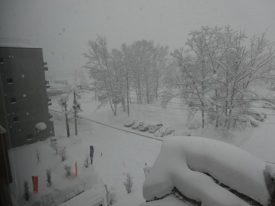Shiki Niseko: View from lounge toward main street