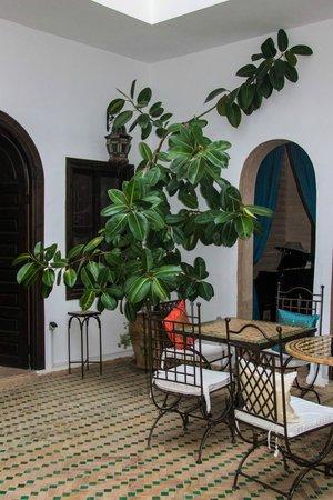 Riad Les Trois Mages:                   The courtyard