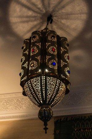Riad Les Trois Mages:                   Lantern in the Bahia Suite