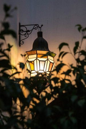 Riad Les Trois Mages:                   Lantern in the courtyard