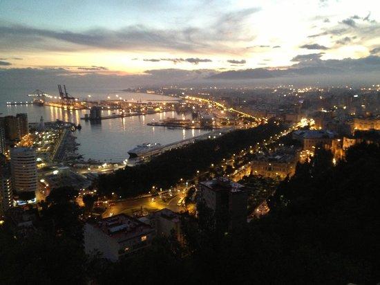 Parador de Malaga Gibralfaro: Night view from the room