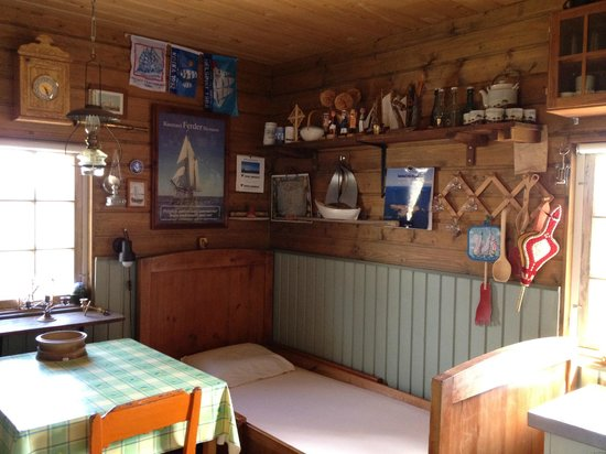 Bodgardin: Interior archipelago style in one of the cabins with sauna.