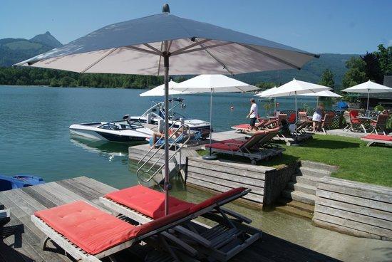 Hotel Furian am Wolfgangsee: Reservierte Sonnenliegen