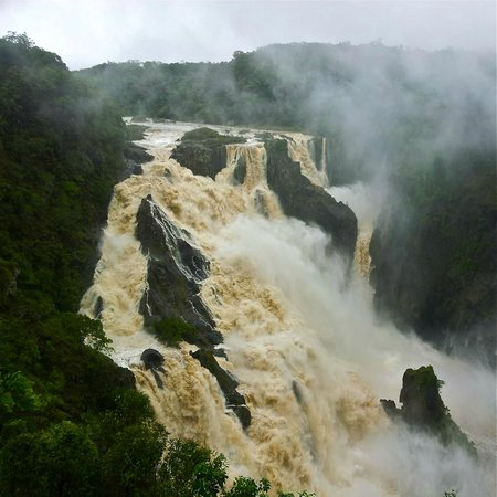 The magnificent Barron Falls in the wet.