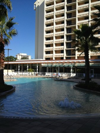 Holiday Inn Orlando – Disney Springs Area:                   Pool area and hotel