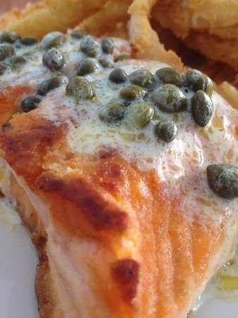 Village Fish Market Restaurant and Lounge:                   Lemon caper salmon. To die for.