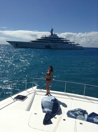 Private Yacht Charter SXM - Day Trips:                   The largest private yacht in the world, Eclipse