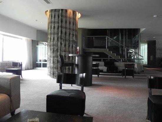 Virgo Hotel and Spa - Las Lenas:                   Lobby y bar