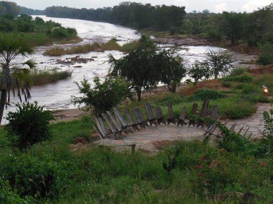 Kiboko Camp: vista dal ristorante