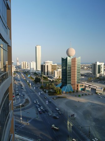 Nour Arjaan by Rotana - Fujairah:                   Downtown Fujairah from 13th floor room.