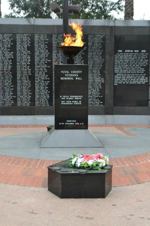 Veterans Memorial Wall: Eternal Flame