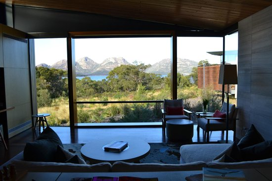 Saffire Freycinet: View of the Hazards from bed