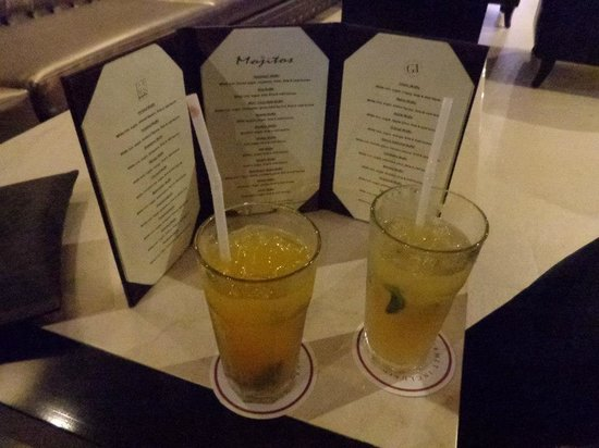 Azul Sensatori Hotel, by Karisma:                   Mojito Bar menus and samples
