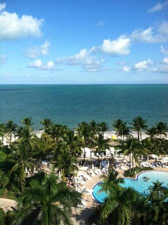 The Ritz-Carlton Key Biscayne, Miami:                   View from our room on the 7th floor.