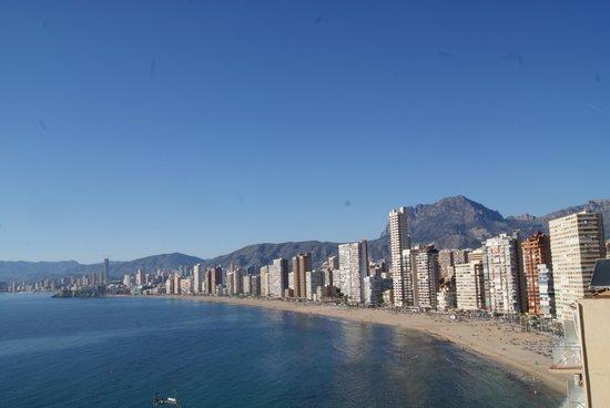 Hotel Benikaktus: vu de notre balcon