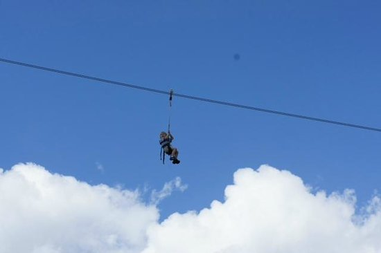 Fantasy of Flight: My 3-year old on the Zip Line!