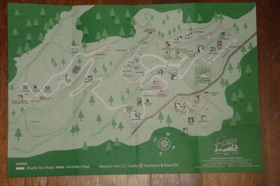 Eden Nature Park: map