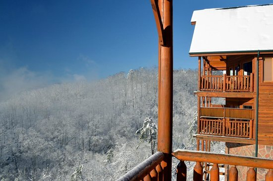 """Legacy Mountain Resort:                                                       """"Best of View"""" cabin view  from balcony"""