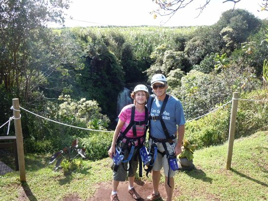 Skyline Eco Adventures - Akaka Falls:                   The two of us in our gear.