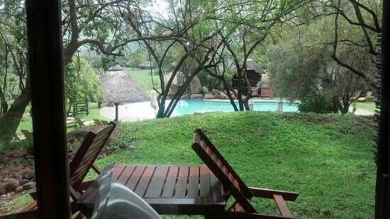 Bakubung Bush Lodge:                   View from my window