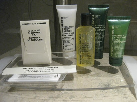 Hilton The Hague: Peter Roth toiletries