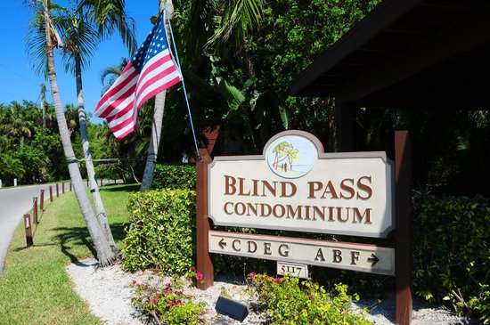 Entrance to Blind Pass Condominiums