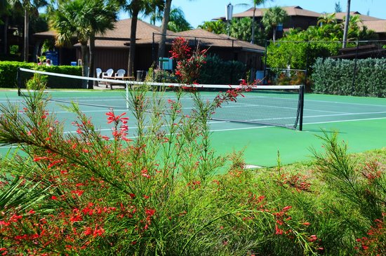 One of the tennis courts at Blind Pass Condominiums