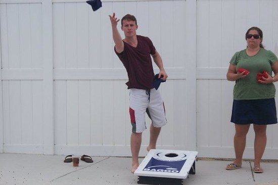 Summer Bay Orlando By Exploria Resorts:                   pool/Barside cornhole game