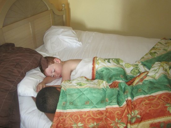 Ocean Reef Resort: My boys asleep