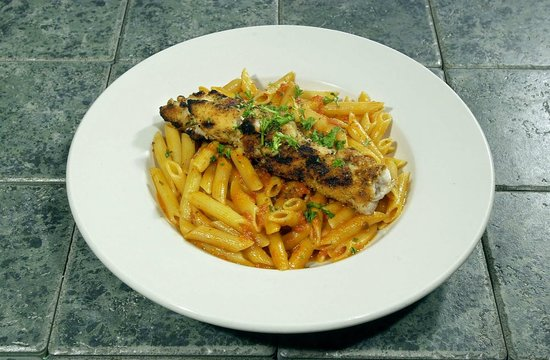 The Pasta House: Penne Romano chicken Spedini