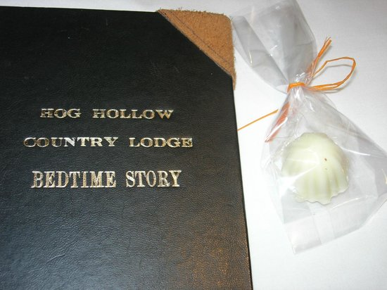 Hog Hollow Country Lodge:                   Something to help you sleep!
