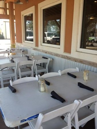 EAT! Orange Beach:                   Outdoor seating.