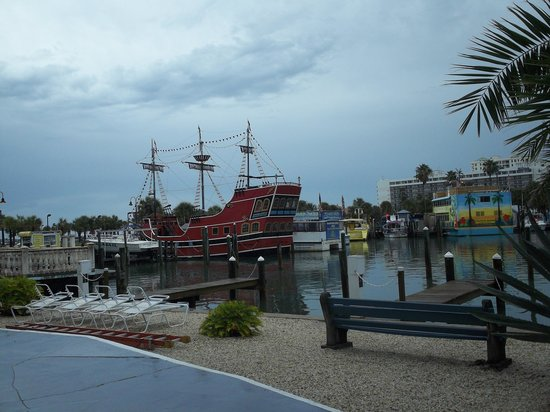 Sea Captain Resort on the Bay:                   pirate ship in the bay