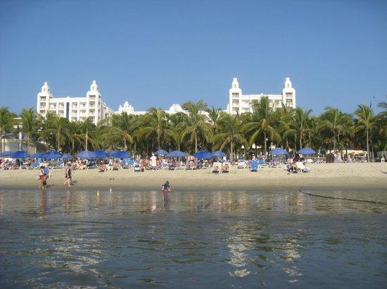 Hotel Riu Vallarta:                   Hotel from the water