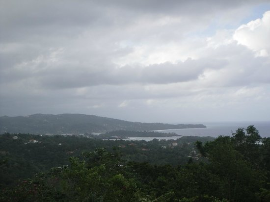 Hotel Mocking Bird Hill:                   View from the hotel looking to Port Antonio.