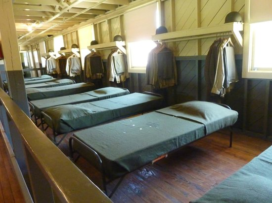 National Infantry Museum and Soldier Center:                   The old bunk house and beds!
