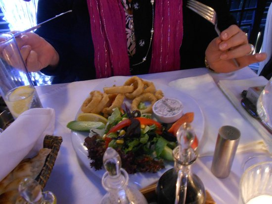 Amedros:                                                       The calamari was out of this world!