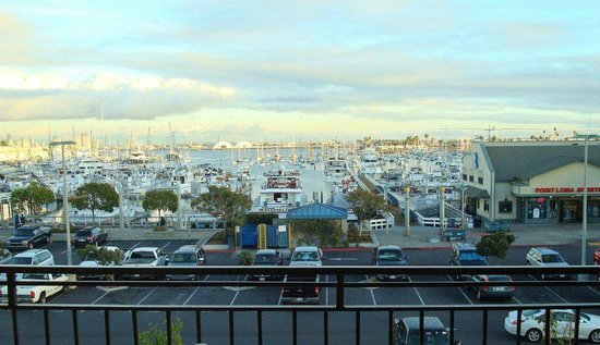 Ramada San Diego Airport:                   View from our room