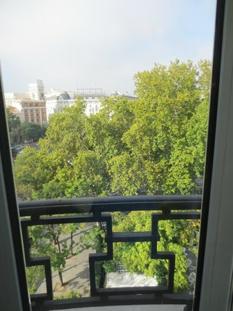 Hotel Ritz, Madrid:                   View from the sitting room...