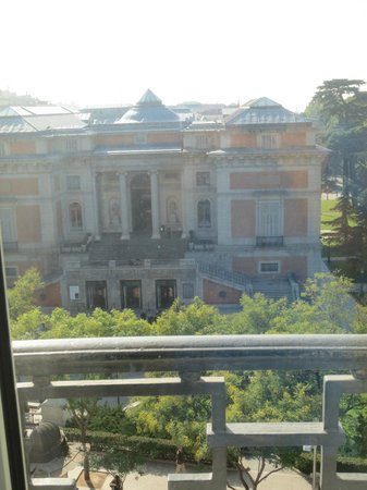 Hotel Ritz, Madrid:                   View of the Prado from sitting room....