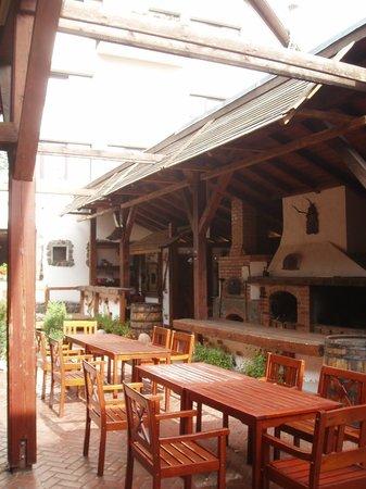 Cabana Vanatorilor: outside terrace