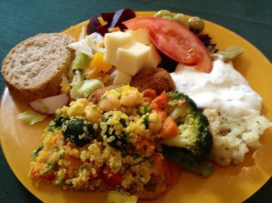 Vegetalia:                   Eksempel på mad fra frokostbuffeten