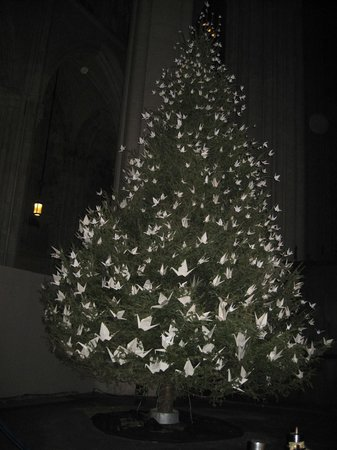 Cathedral Church of Saint John the Divine: The lovely peace tree - photo doesn't do it justice