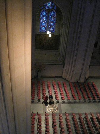 Cathedral Church of Saint John the Divine: Looking down from one of the balconys
