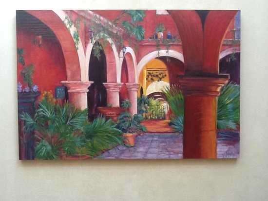 Guest Painting of Casa de la Cuesta Courtyard