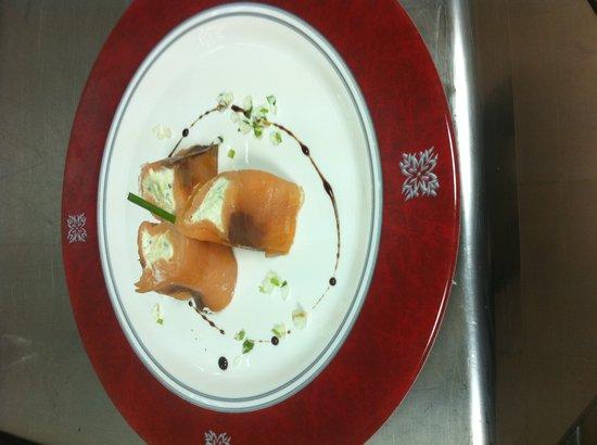 Royalton Cayo Santa Maria: Smoked salmon apetizer/Entrée de saumon fumé